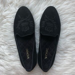 Vionic Shag Romi Black Suede Loafers